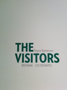 "Entrance to ""The Visitors"" by Ragnar Kjartansson (Guggenheim Museum, Bilbao)"